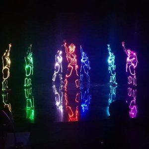 led dance, nhảy đèn led