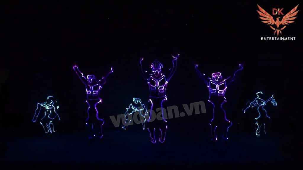 nhảy đèn led, led dance, nhay den led